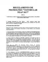 Regulamento Promoções Vestibular FEAP 2017 – ERRATA