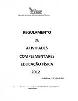 ATIVIDADES COMPLEMENTARES EDUCAÇÃO FÍSICA