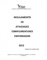 ATIVIDADES COMPLEMENTARES ENFERMAGEM