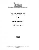 DISCIPLINAS ISOLADAS