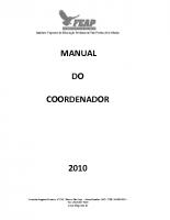 MANUAL DO COORDENADOR