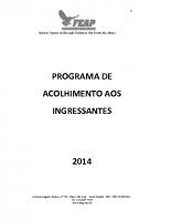 PROGRAMA ACOLHIMENTO INGRESSANTES