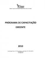 PROGRAMA CAPACITAÇÂO DOCENTE
