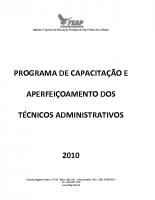 PROGRAMA CAPACITAÇÃO TECNICO ADMINISTRATIVO