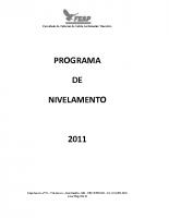 PROGRAMA DE NIVELAMENTO