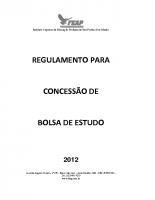 REGULAMENTO BOLSA DE ESTUDO