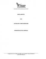REGULAMENTO DE ATIVIDADES EXTRAS CURRICULARES – ADMINISTRAÇÃO
