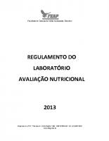 REGULAMENTO DE AVALIAÇÃO NUTRICIOANL 2017