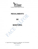 REGULAMENTO DE MONITORIA