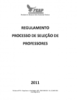 REGULAMENTO DE SELEÇÃO PROFESSOR