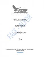 REGULAMENTO DO DIRETÓRIO ACADÊMICO