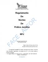 REGULAMENTO DO NÚCLEO DE PRÁTICA JURÍDICA…