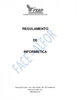 REGULAMENTO LABORATÓRIO DE INFORMÁTICA