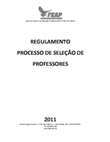 REGULAMENTOSELEÇÃO PROFESSOR