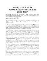 Regulamento Promoções Vestibular 2018