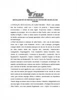 Regulamento do programa de bolsas – 2012