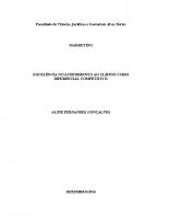 ADM TCC 2014 Alyne Golçalves – EXCELÊNCIA NO ATENDIMENTO AO CLIENTE COMO DIFERENCIAL COMPETITIVO