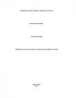 ADM TCC 2015 – Natalia Resende – Qualidade nos processos: um meio de satisfazer as necessidades dos clientes