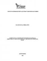 BIO – TCC – 2016 – ILLO DE SOUZA GUERRA NETO – COMPOSIÇÃO DA COMUNIDADE DE MORCEGOS (MAMMALIA, CHIROPTERA) NA ÁREA DE INFLUÊCIA DA UHE SIMPLICIO, SUDESTE DO BRASIL